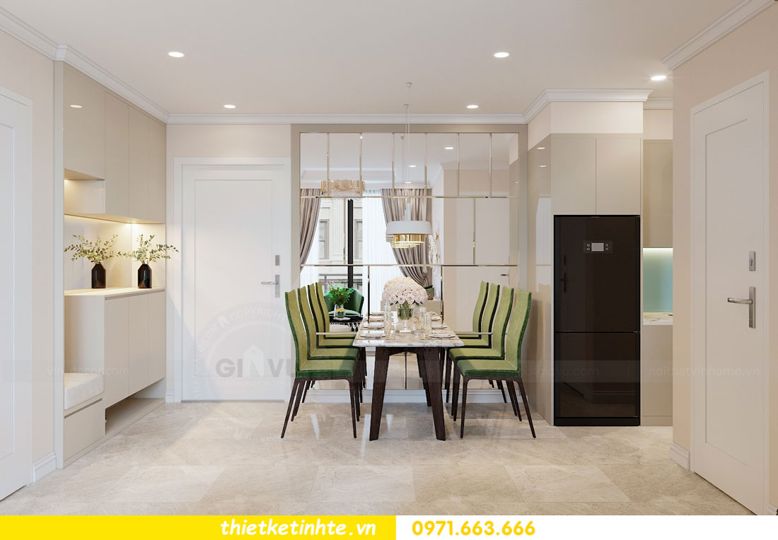 thiết kế nội thất chung cư 2 phòng ngủ đẹp hiện đại nhà chị Nụ 01