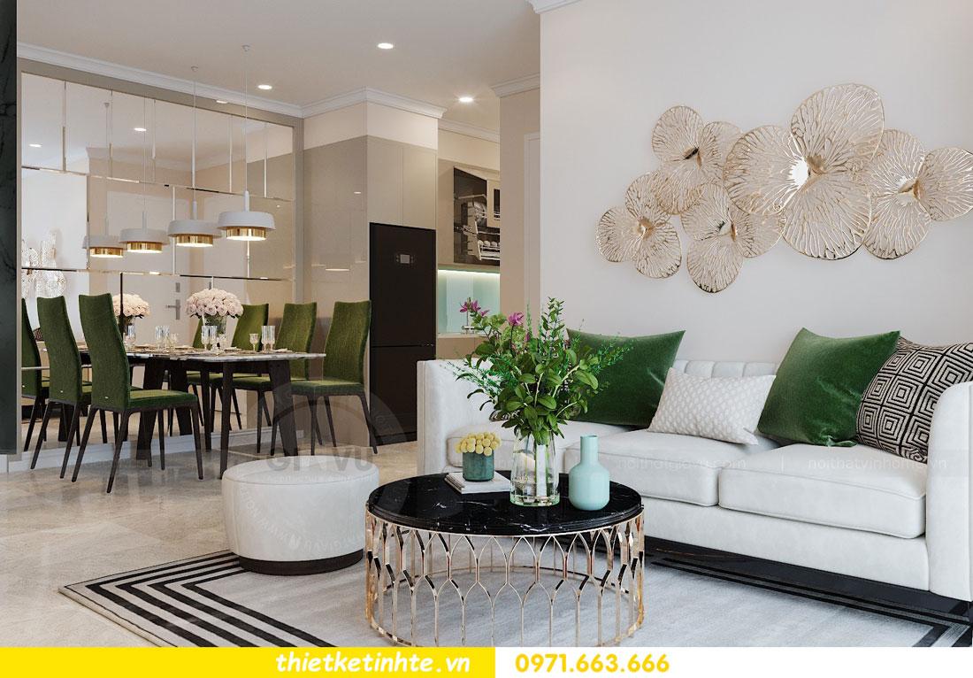 thiết kế nội thất chung cư 2 phòng ngủ đẹp hiện đại nhà chị Nụ 03