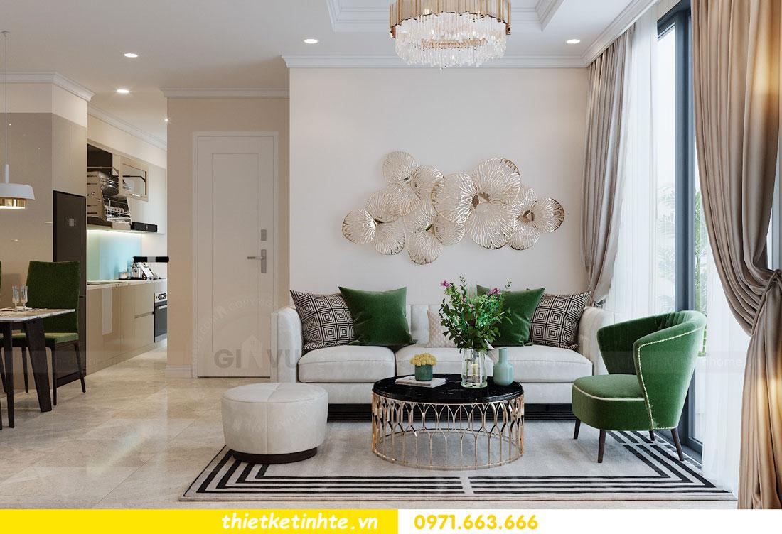 thiết kế nội thất chung cư 2 phòng ngủ đẹp hiện đại nhà chị Nụ 04
