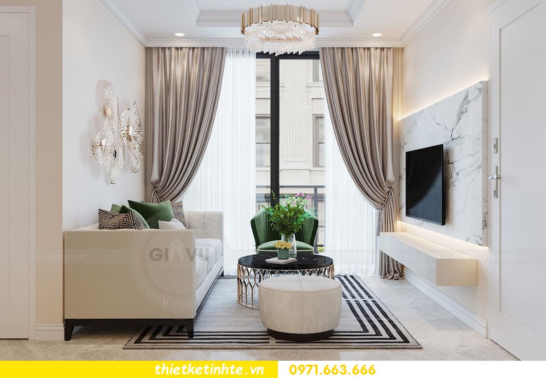 thiết kế nội thất chung cư 2 phòng ngủ đẹp hiện đại nhà chị Nụ 05