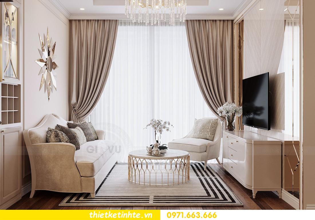 thiết kế nội thất chung cư DCapitale tòa C6 căn 07 A Long 04