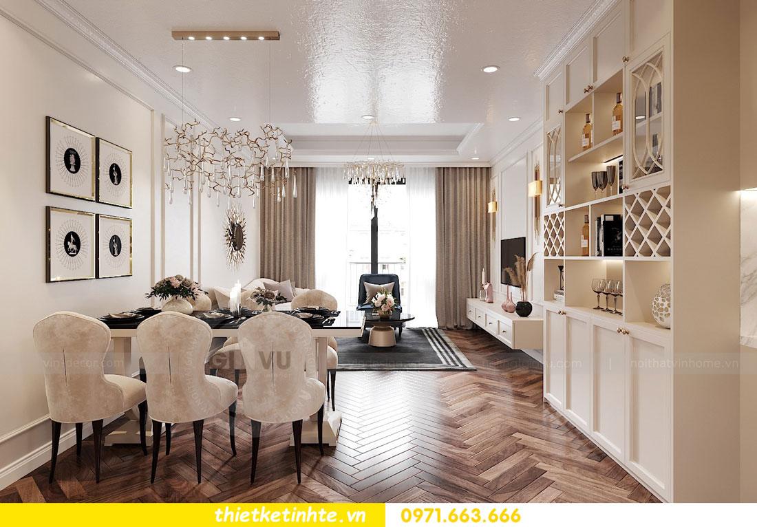 thiết kế nội thất chung cư DCapitale tòa C7 căn 12 chị Hương 02