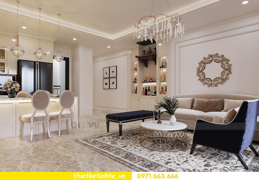 thiết kế nội thất chung cư Vinhomes DCapitale tòa C3 căn 06 nhà A Chung 01