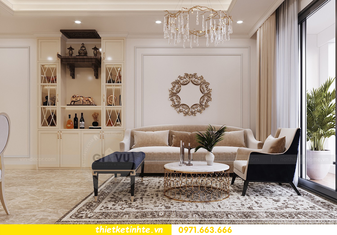 thiết kế nội thất chung cư Vinhomes DCapitale tòa C3 căn 06 nhà A Chung 03