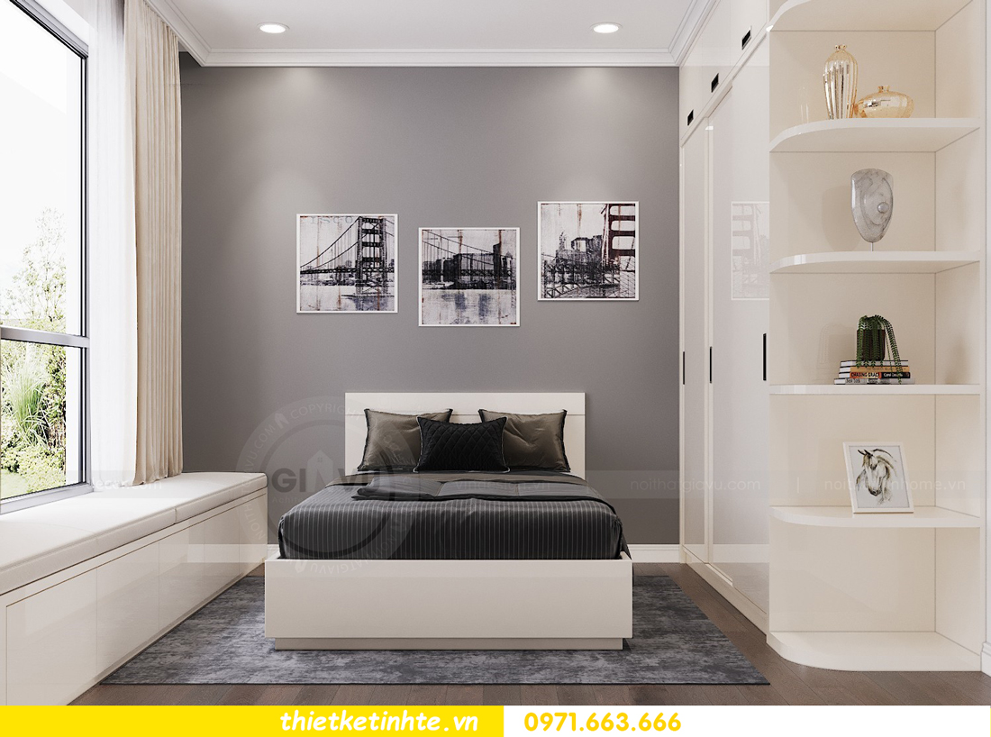 thiết kế nội thất chung cư Vinhomes DCapitale tòa C3 căn 06 nhà A Chung 09