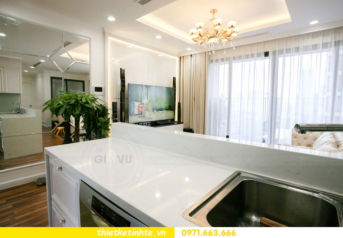 thi công nội thất chung cư với 150 triệu nhà anh Luân 05
