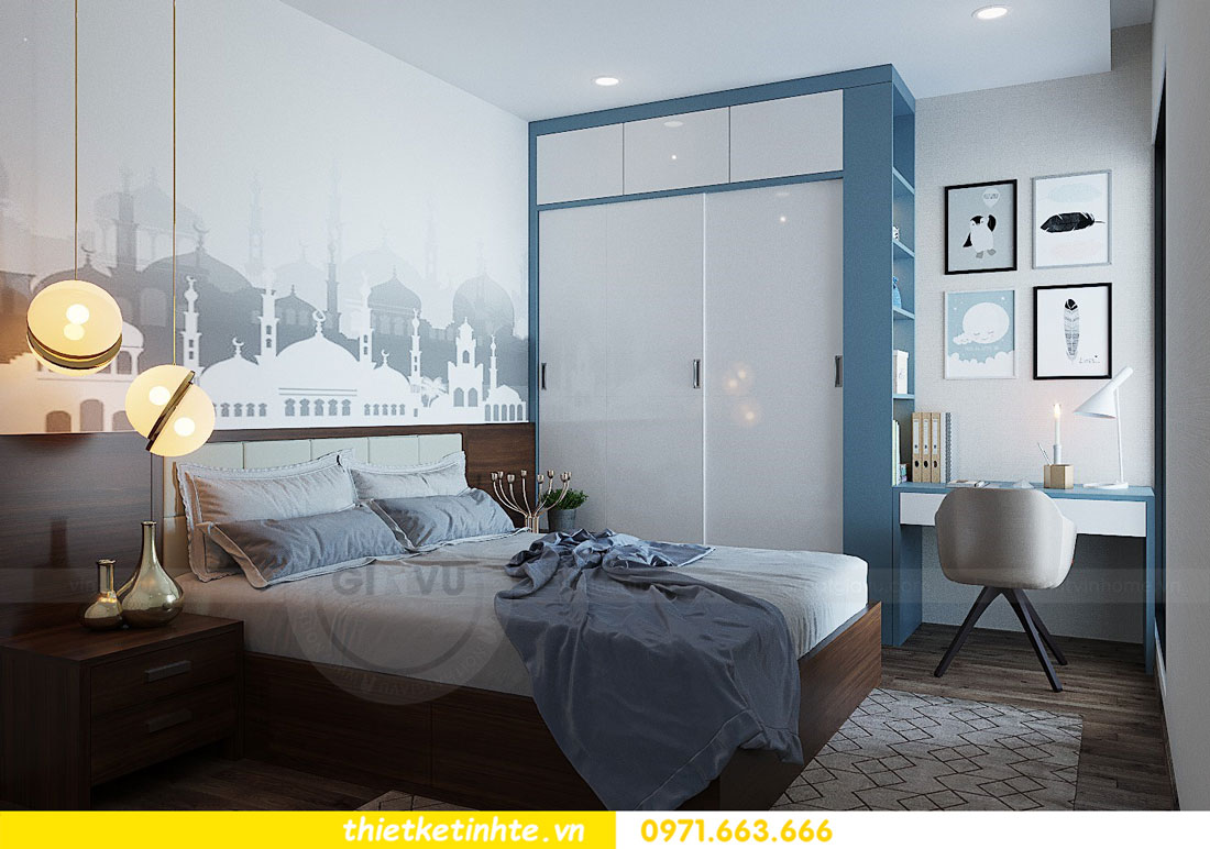 thiết kế nội thất căn hộ 3 phòng ngủ sang trọng, tiện nghi 13