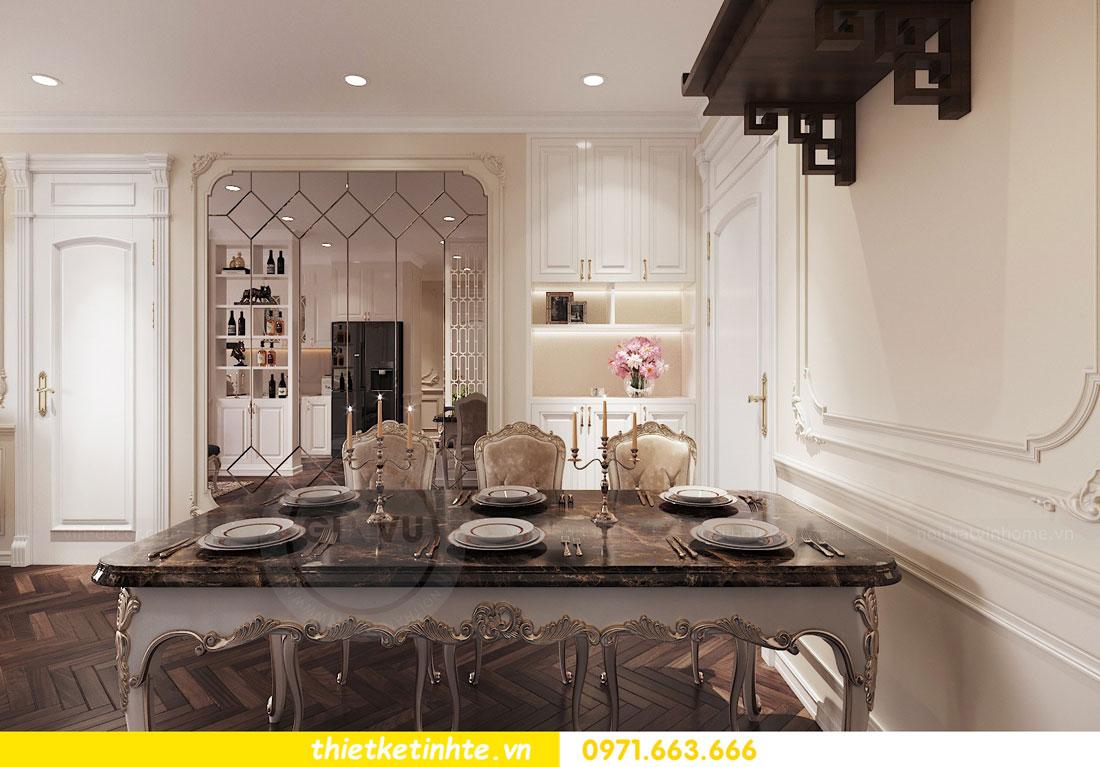 thiết kế nội thất căn hộ tân cổ điển tại Vinhomes Green Bay 3