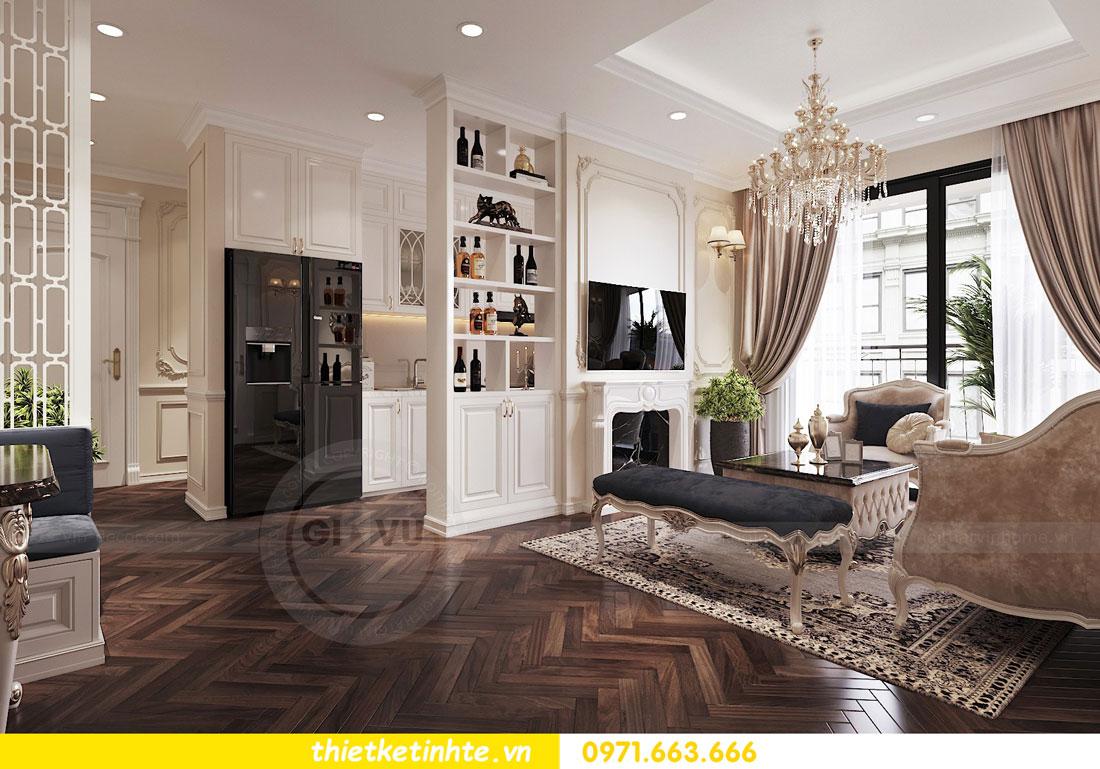 thiết kế nội thất căn hộ tân cổ điển tại Vinhomes Green Bay 4