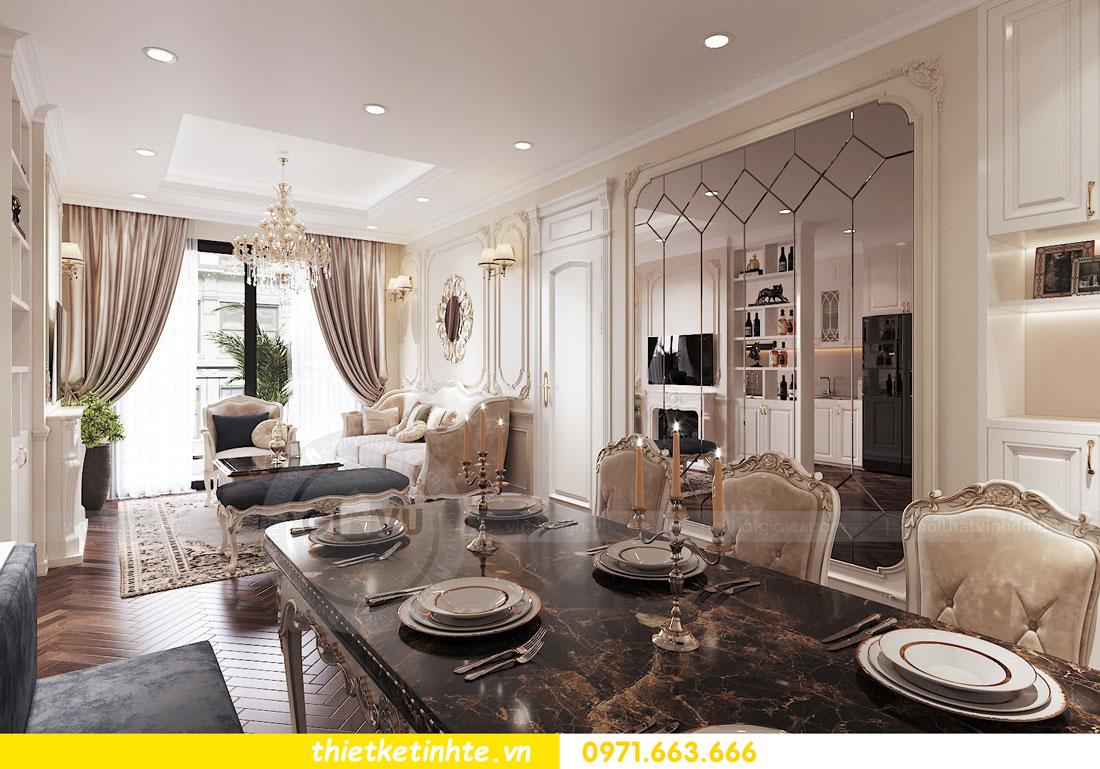 thiết kế nội thất căn hộ tân cổ điển tại Vinhomes Green Bay 5