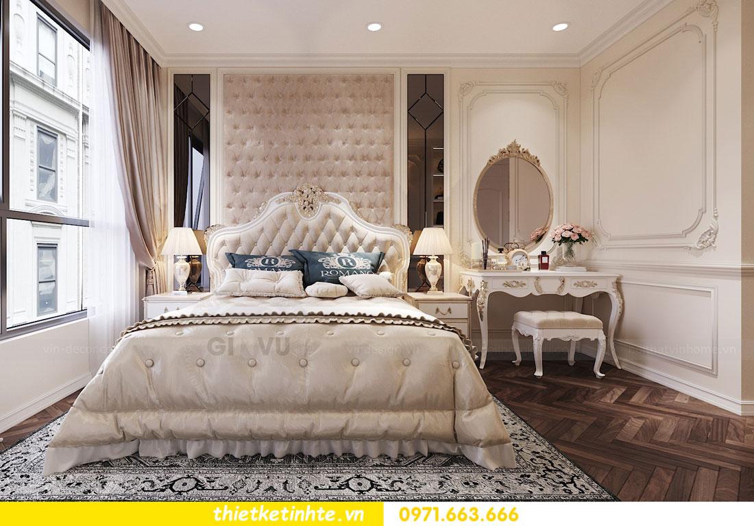 thiết kế nội thất căn hộ tân cổ điển tại Vinhomes Green Bay 7