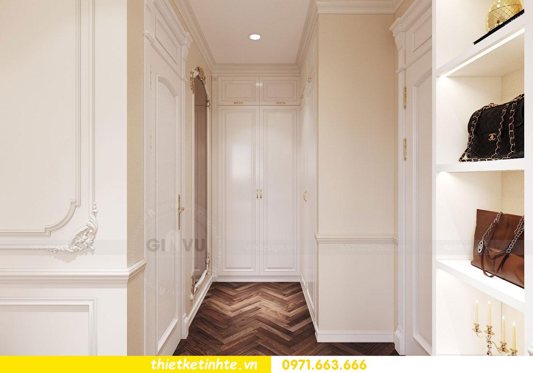 thiết kế nội thất căn hộ tân cổ điển tại Vinhomes Green Bay 9