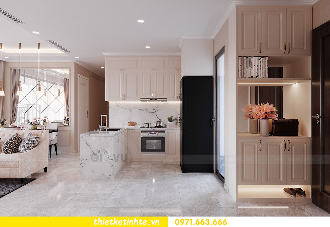 thiết kế nội thất chung cư 90m2 3 phòng ngủ hiện đại 01