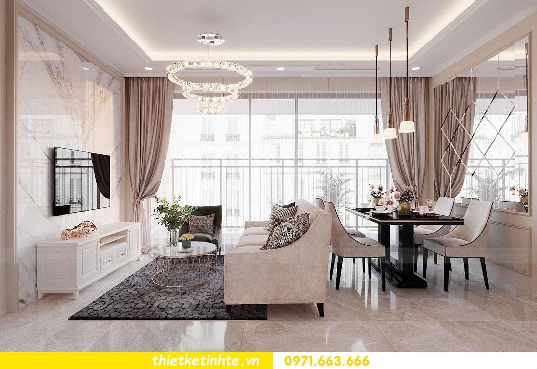thiết kế nội thất chung cư 90m2 3 phòng ngủ hiện đại 04
