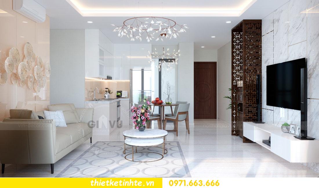 thiết kế nội thất chung cư căn 3 phòng ngủ tại DCapitale 03