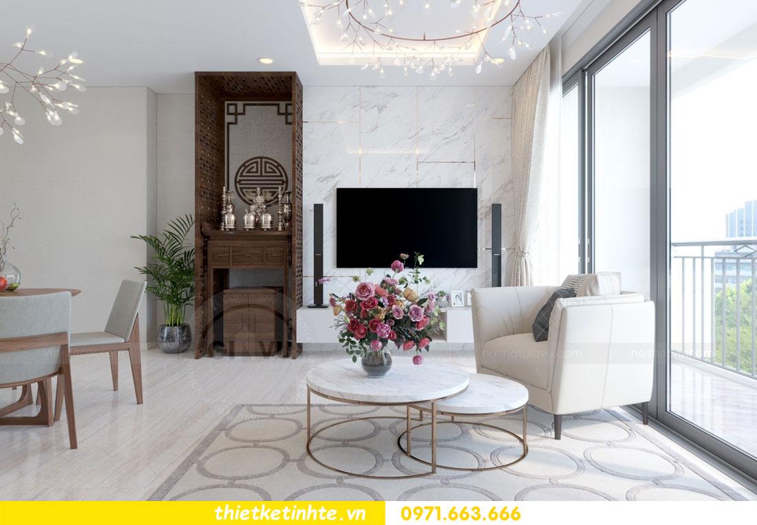 thiết kế nội thất chung cư căn 3 phòng ngủ tại DCapitale 05