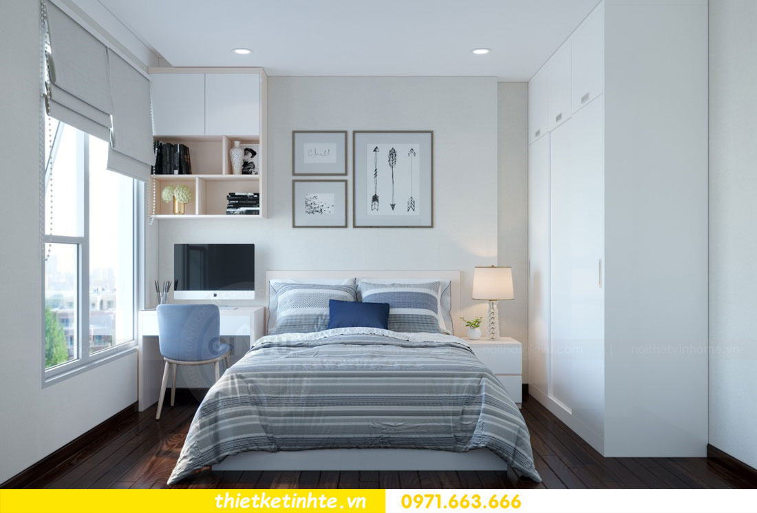 thiết kế nội thất chung cư căn 3 phòng ngủ tại DCapitale 09