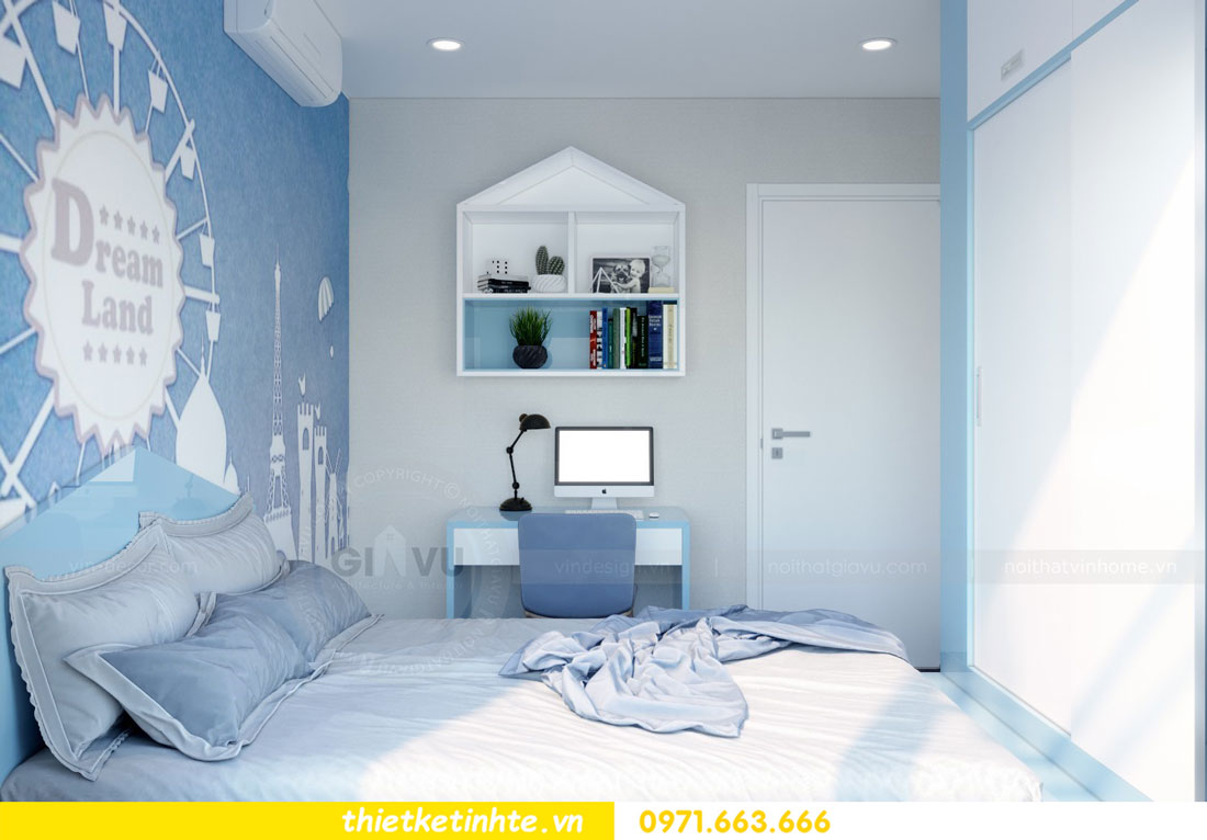 thiết kế nội thất chung cư căn 3 phòng ngủ tại DCapitale 10