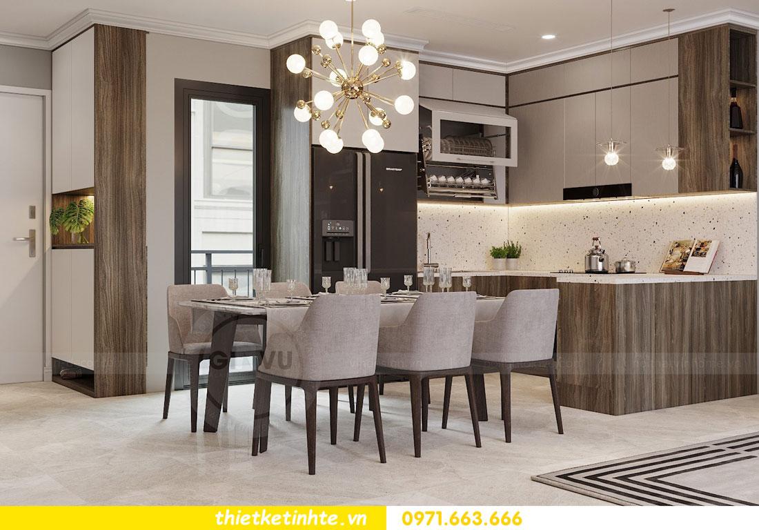 thiết kế nội thất chung cư không gian mở nhà chị Hạnh 02