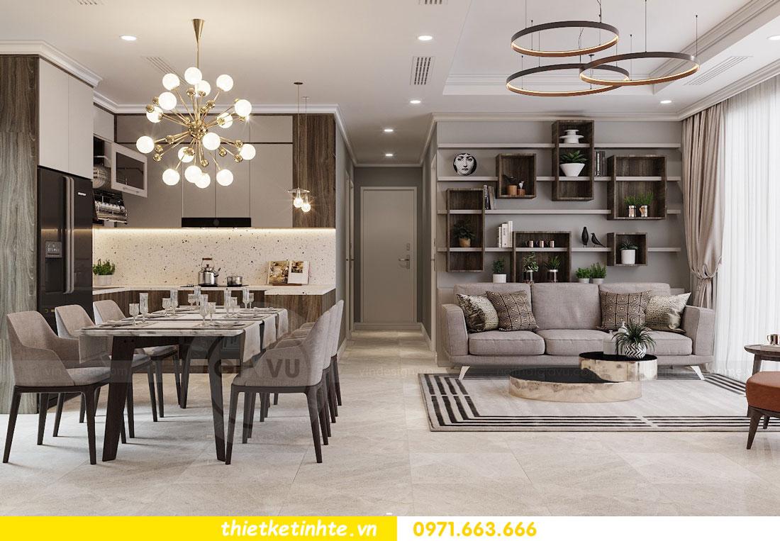 thiết kế nội thất chung cư không gian mở nhà chị Hạnh 03