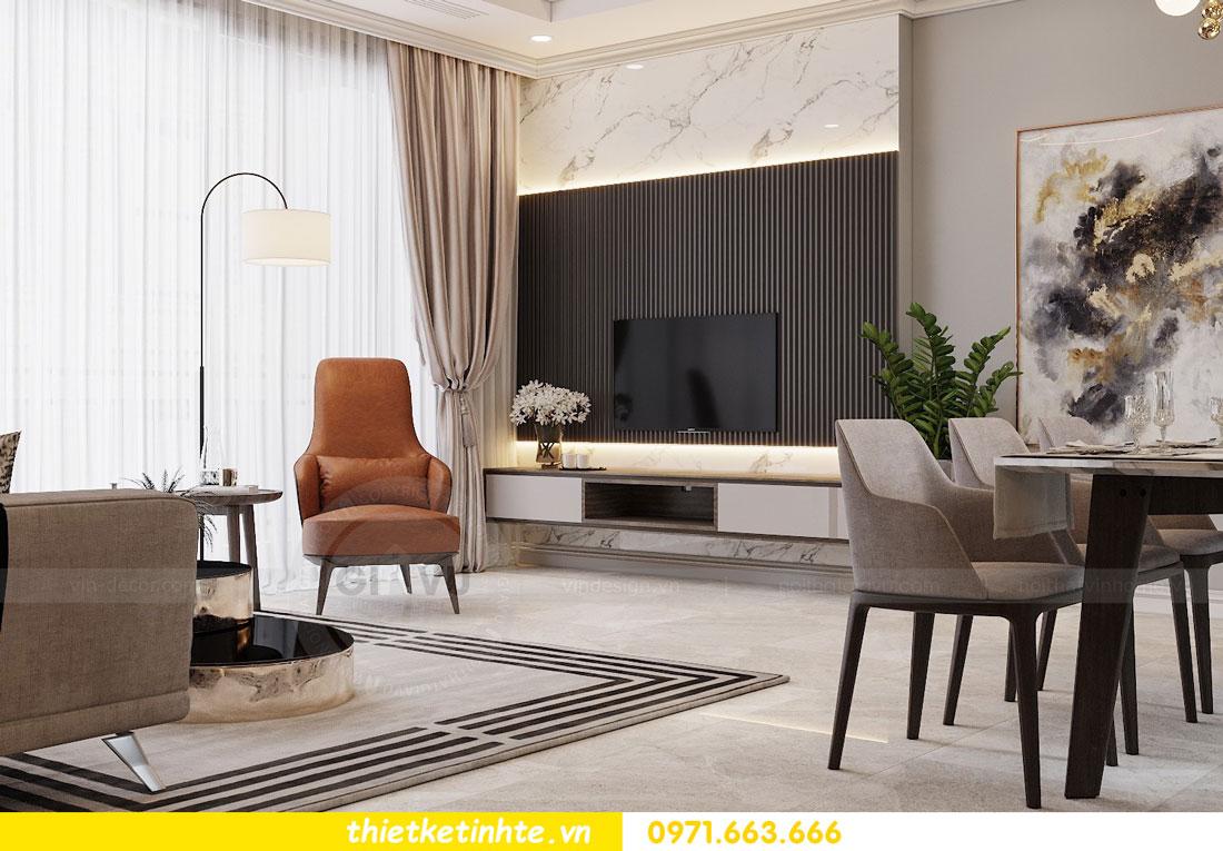 thiết kế nội thất chung cư không gian mở nhà chị Hạnh 04