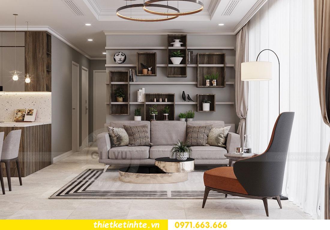 thiết kế nội thất chung cư không gian mở nhà chị Hạnh 05