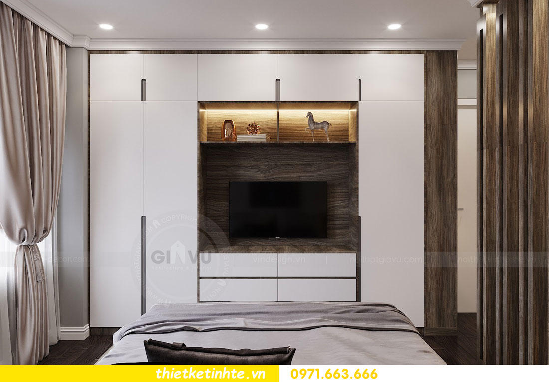 thiết kế nội thất chung cư không gian mở nhà chị Hạnh 09