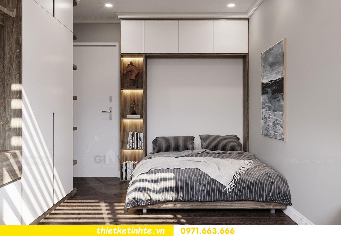 thiết kế nội thất chung cư không gian mở nhà chị Hạnh 12