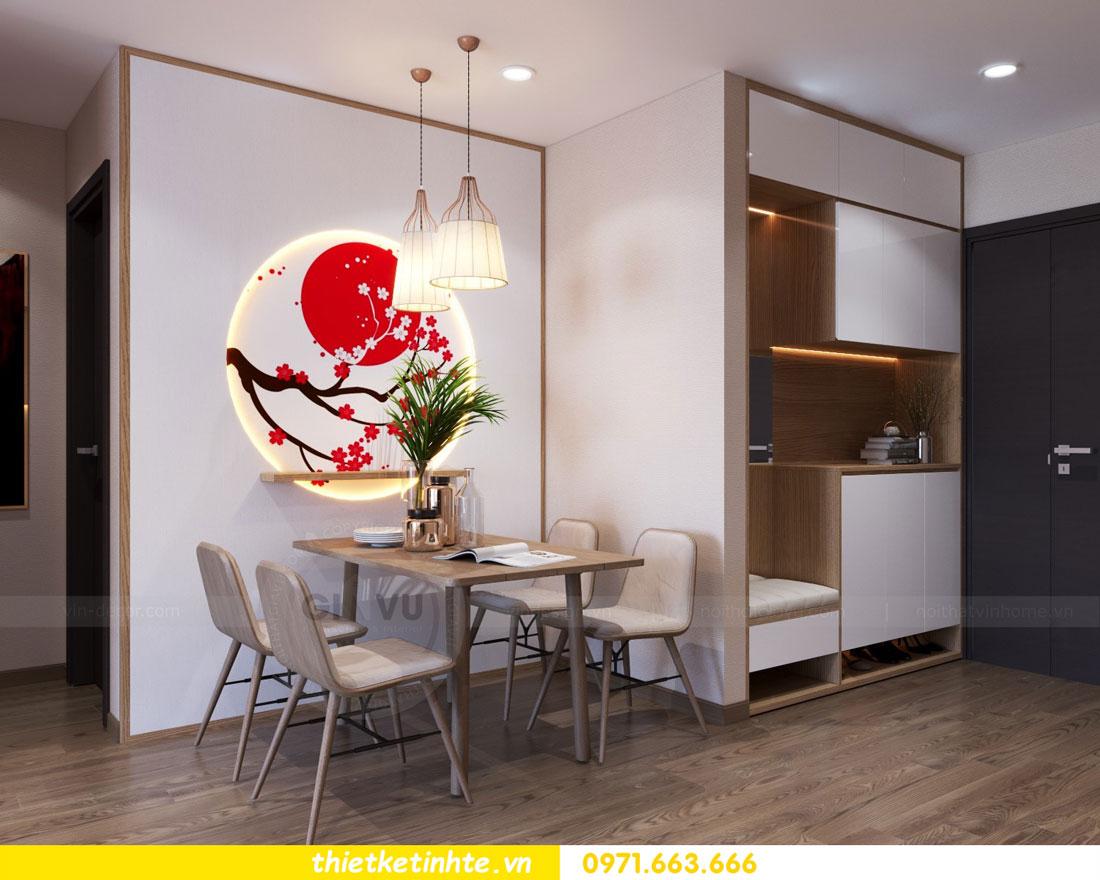 thiết kế nội thất chung cư phong cách Nhật Bản nhà chị Vân 01