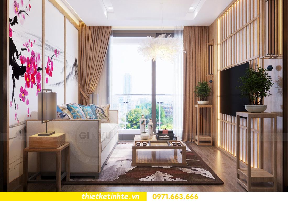thiết kế nội thất chung cư phong cách Nhật Bản nhà chị Vân 02