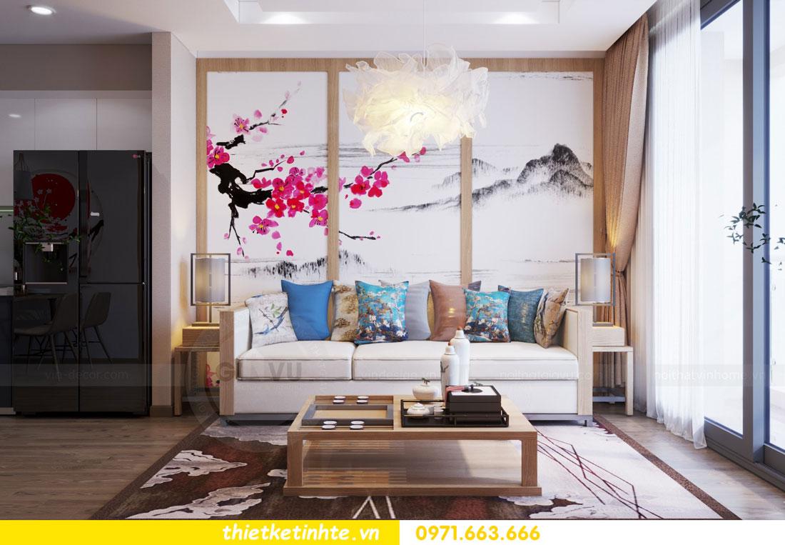 thiết kế nội thất chung cư phong cách Nhật Bản nhà chị Vân 03