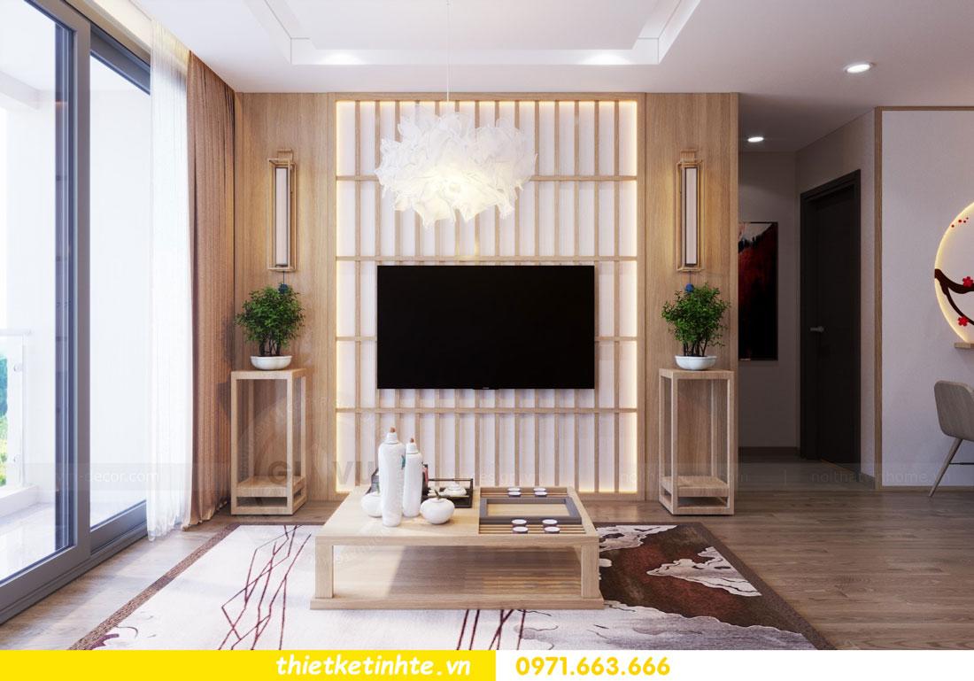thiết kế nội thất chung cư phong cách Nhật Bản nhà chị Vân 04