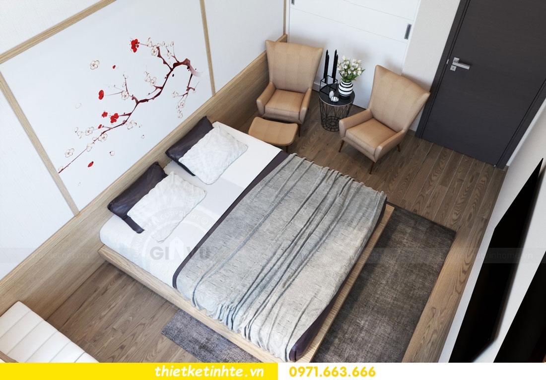 thiết kế nội thất chung cư phong cách Nhật Bản nhà chị Vân 05