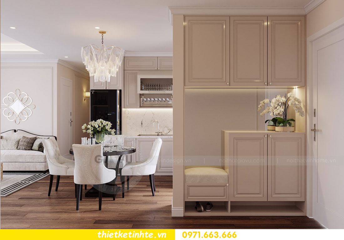 thiết kế nội thất chung cư Vinhomes DCapitale tòa C3 căn 09 1