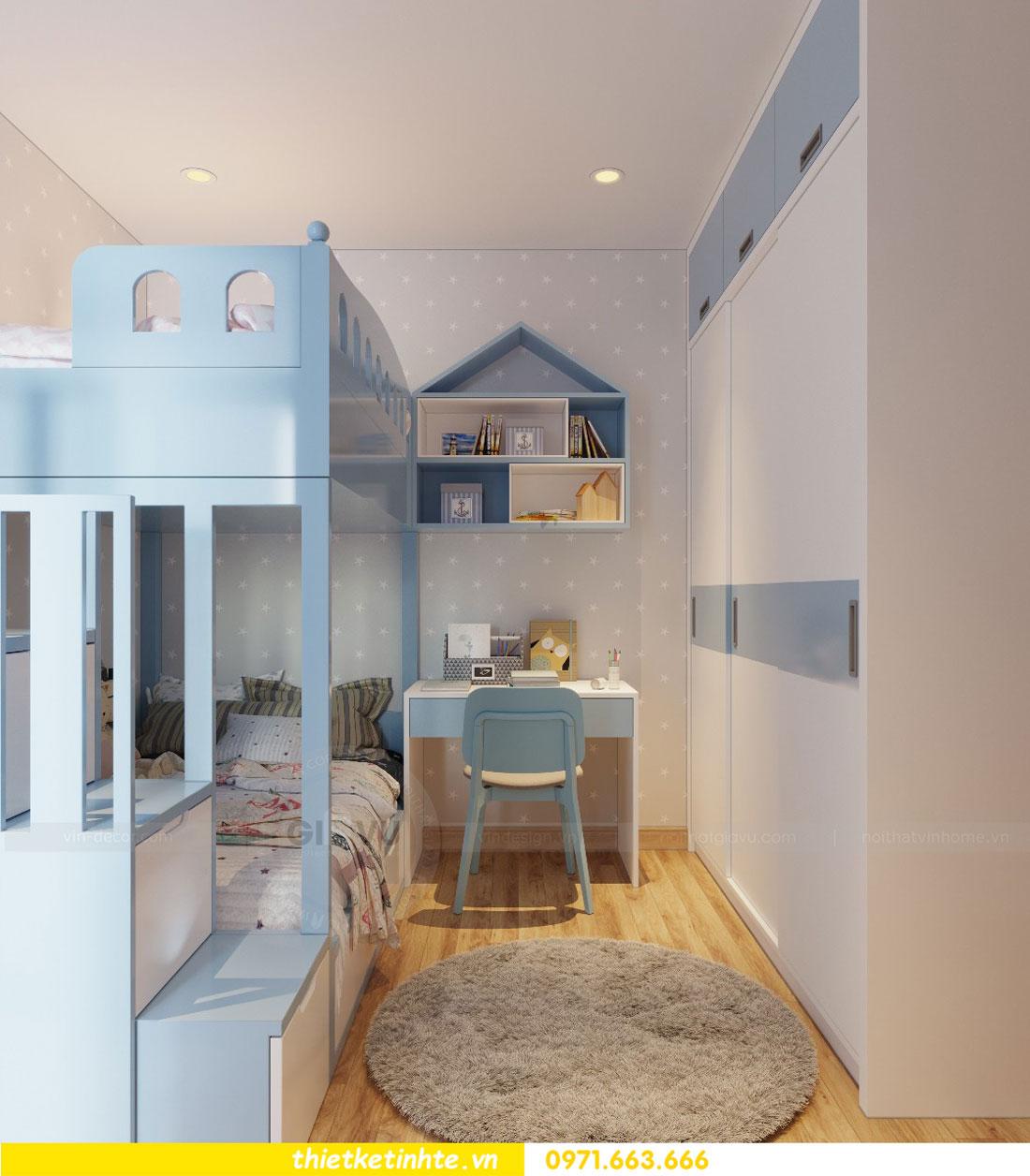 thiết kế nội thất chung cư Vinhomes Park Hill tòa P2 căn 08 10