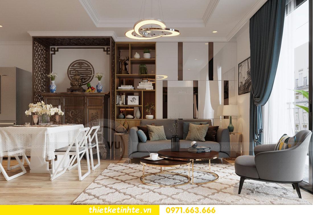 thiết kế nội thất chung cư Vinhomes Park Hill tòa P2 căn 08 3
