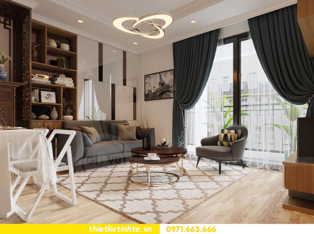 thiết kế nội thất chung cư Vinhomes Park Hill tòa P2 căn 08 4