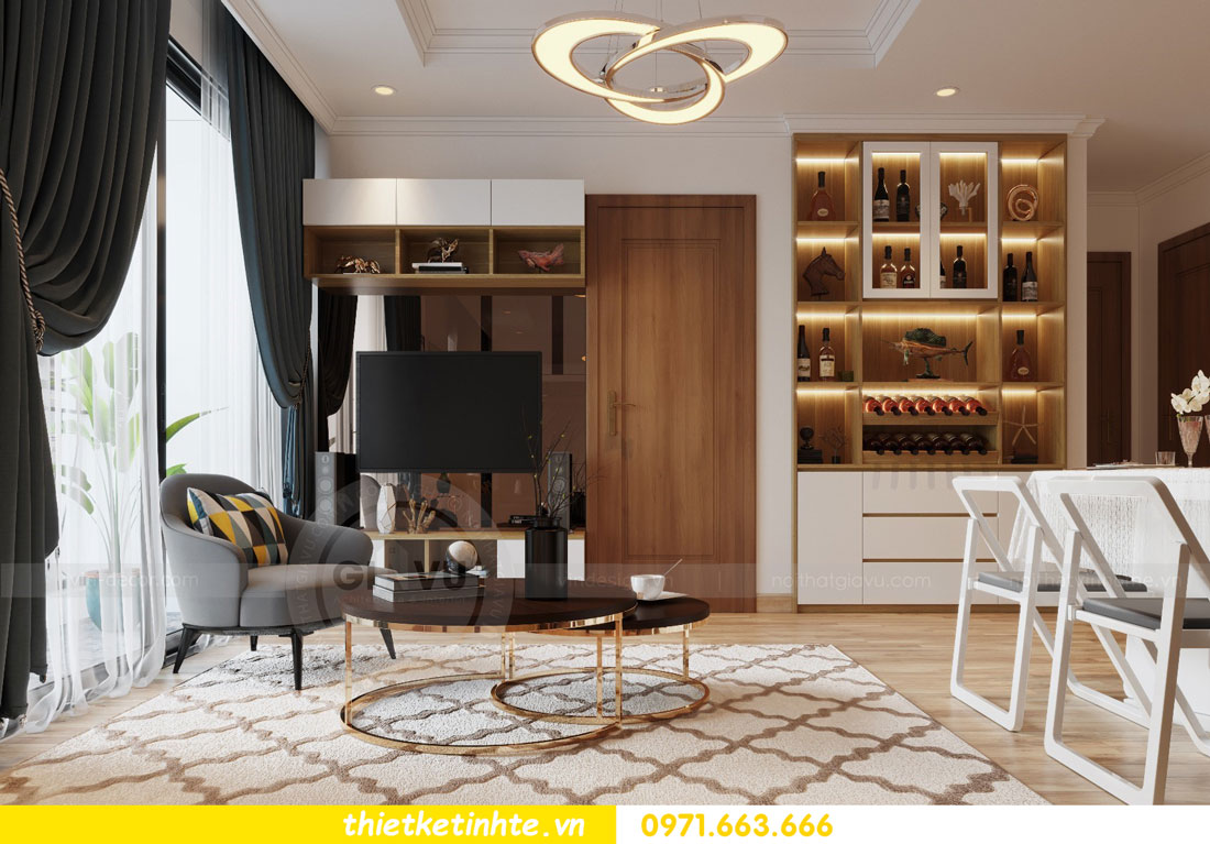 thiết kế nội thất chung cư Vinhomes Park Hill tòa P2 căn 08 5