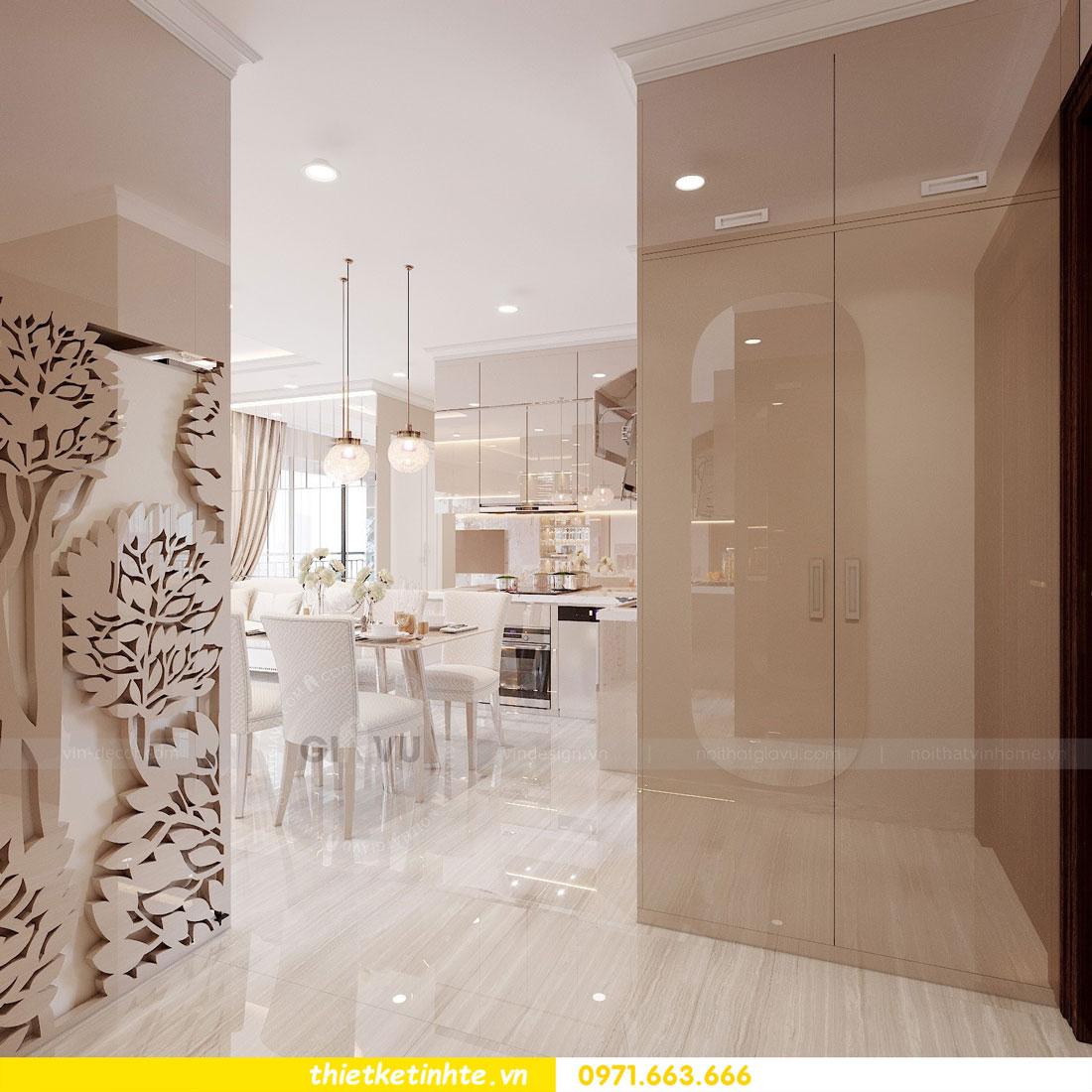 thiết kế nội thất chung cư với gỗ Acrylic nhà chị Huệ 01