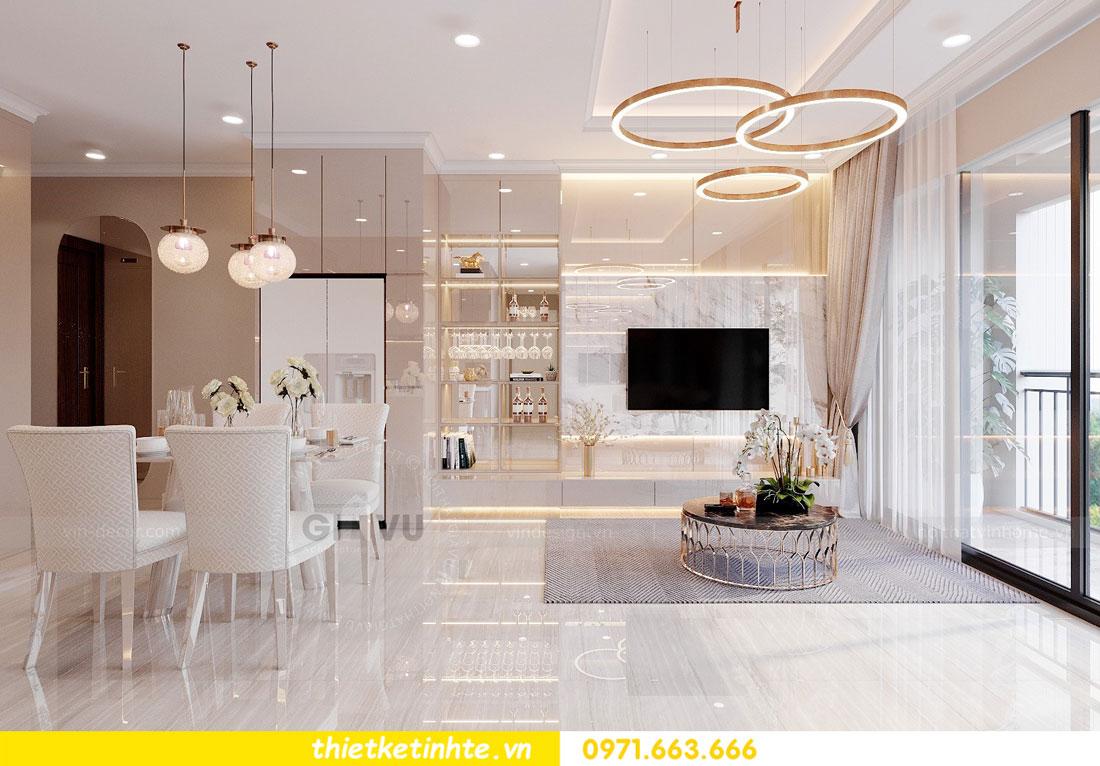thiết kế nội thất chung cư với gỗ Acrylic nhà chị Huệ 02