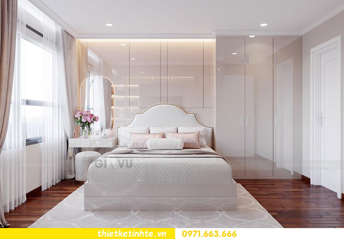 thiết kế nội thất chung cư với gỗ Acrylic nhà chị Huệ 05