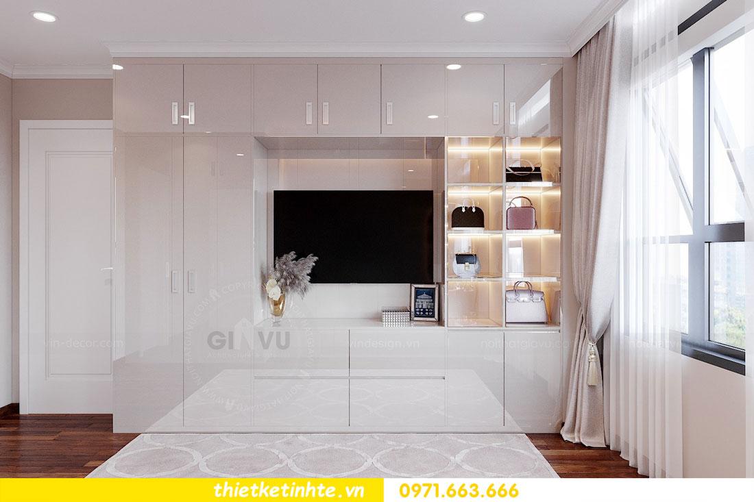 thiết kế nội thất chung cư với gỗ Acrylic nhà chị Huệ 06