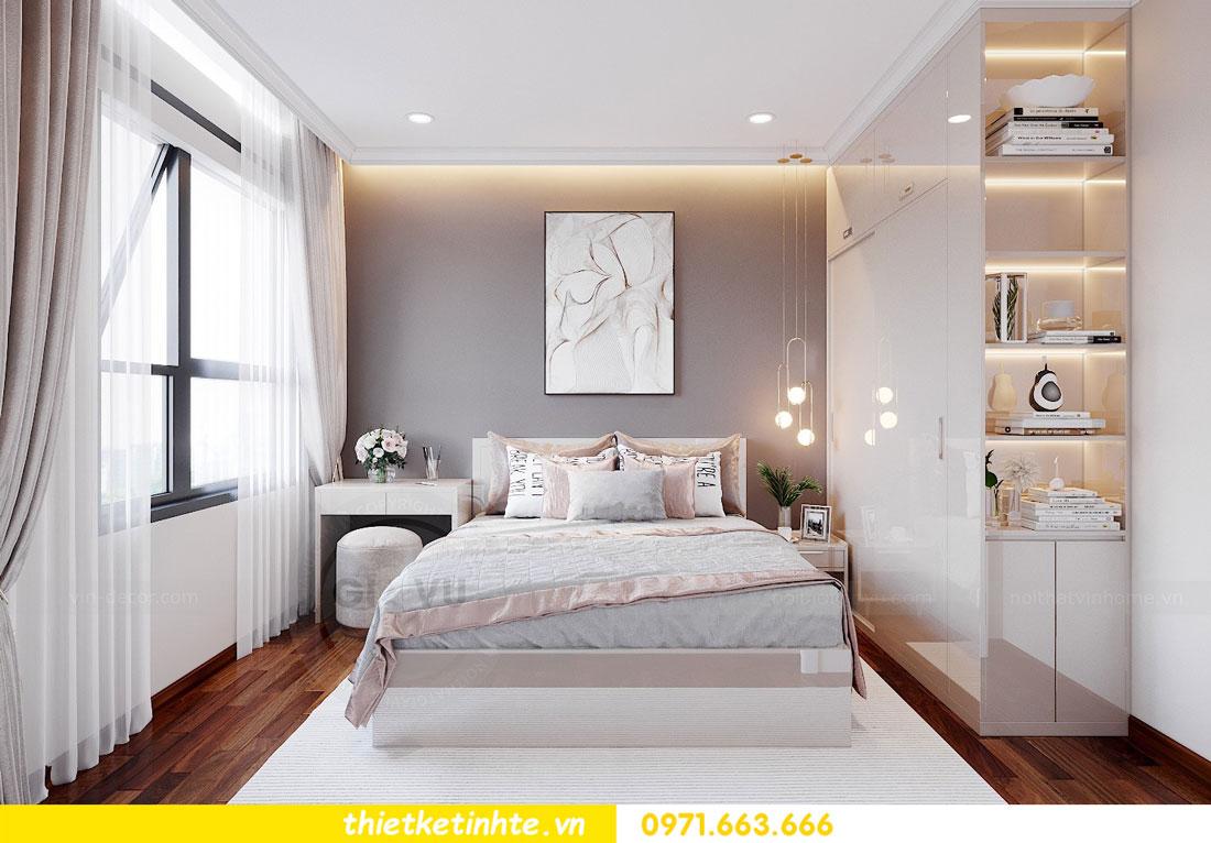 thiết kế nội thất chung cư với gỗ Acrylic nhà chị Huệ 07