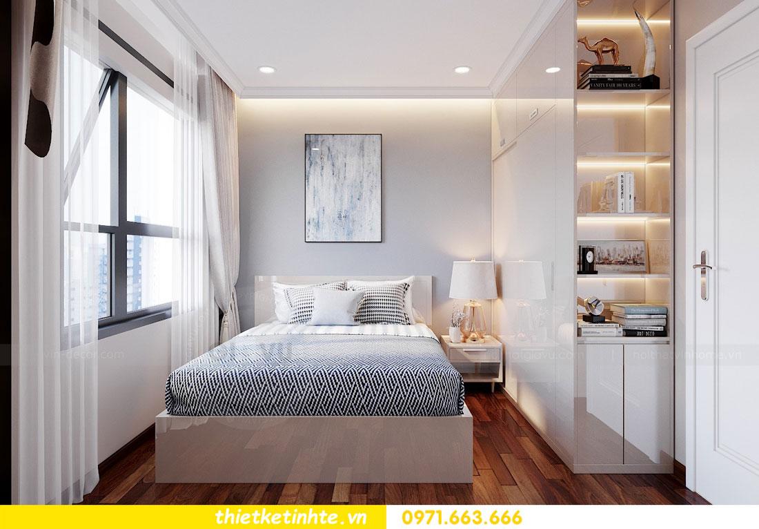 thiết kế nội thất chung cư với gỗ Acrylic nhà chị Huệ 08