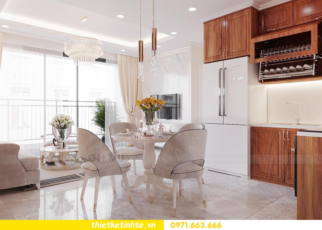 thiết kế nội thất chung cư với gỗ Sồi tại DCapitale anh Phương 03