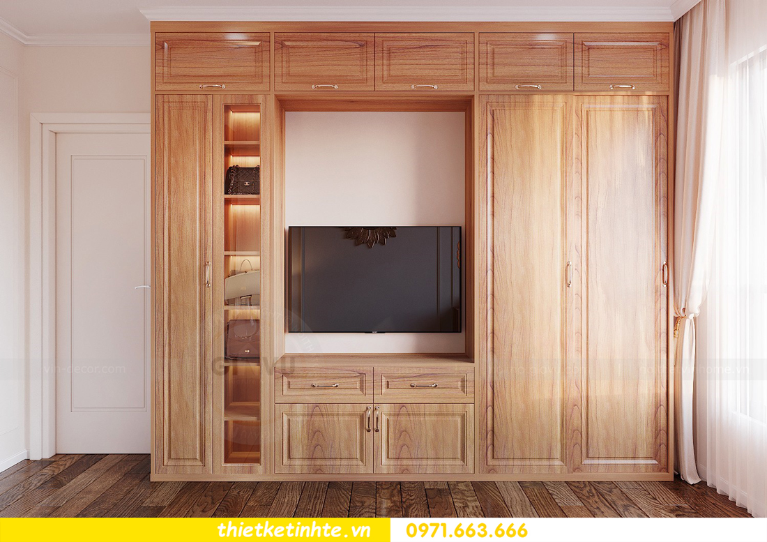 thiết kế nội thất chung cư với gỗ Sồi tại DCapitale anh Phương 07
