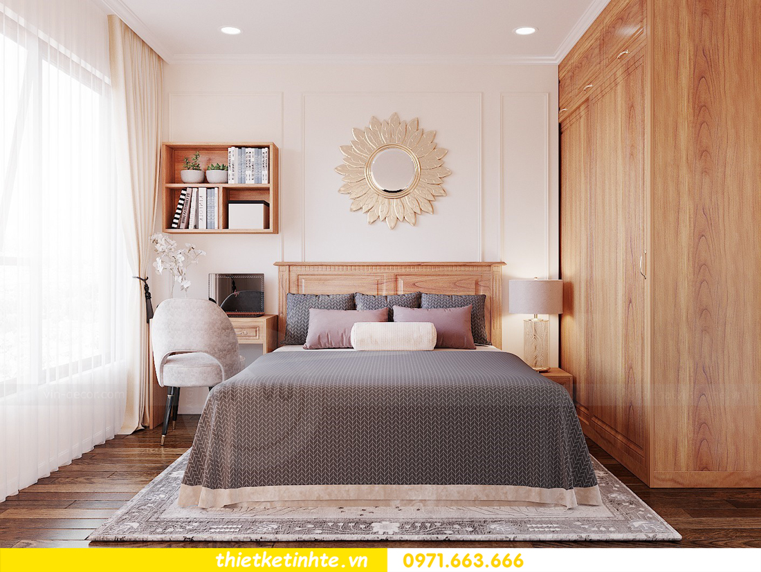 thiết kế nội thất chung cư với gỗ Sồi tại DCapitale anh Phương 09