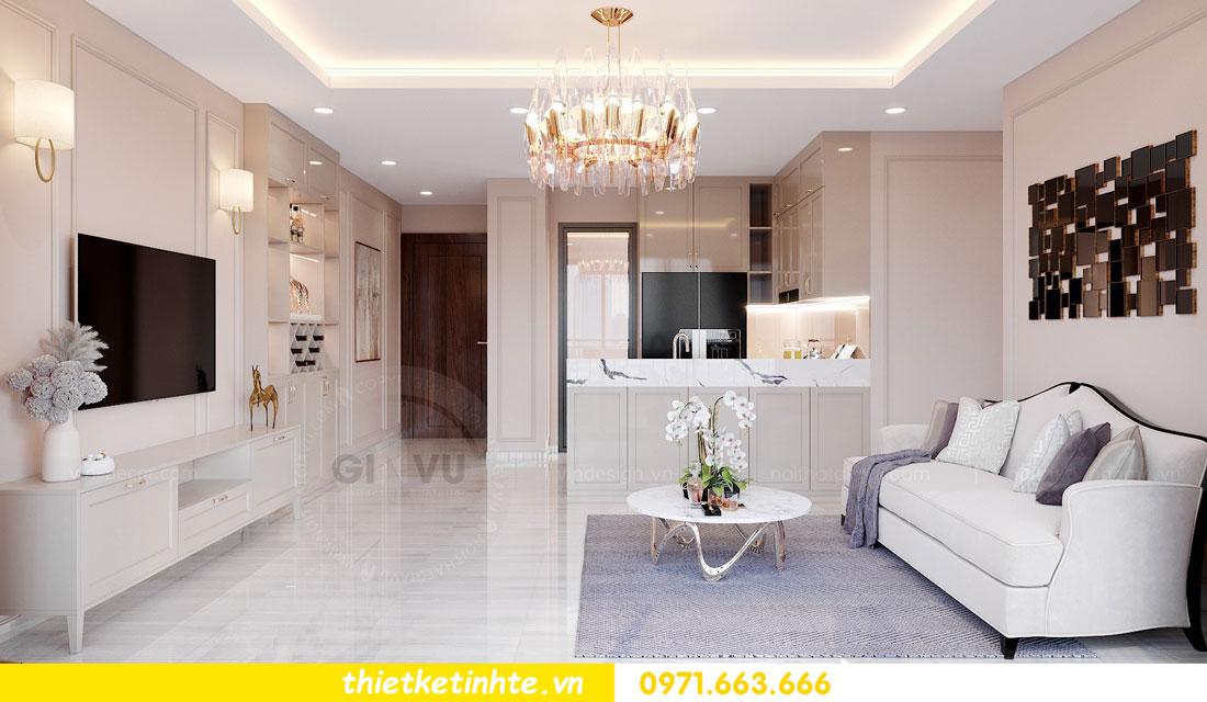 tư vấn thiết kế nội thất chung cư cao cấp nhà chị Loan 2