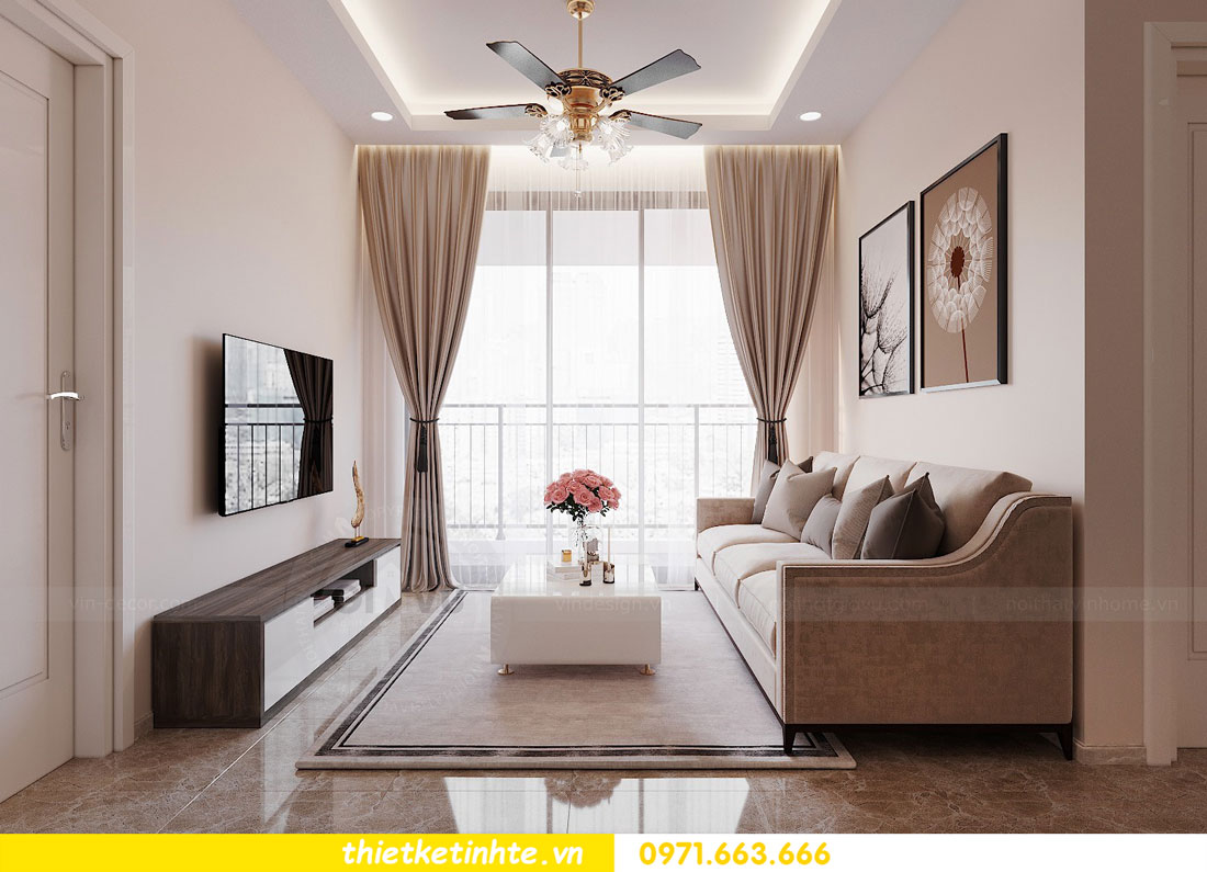mẫu nội thất chung cư đơn giản nhẹ nhàng mà hiện đại 03
