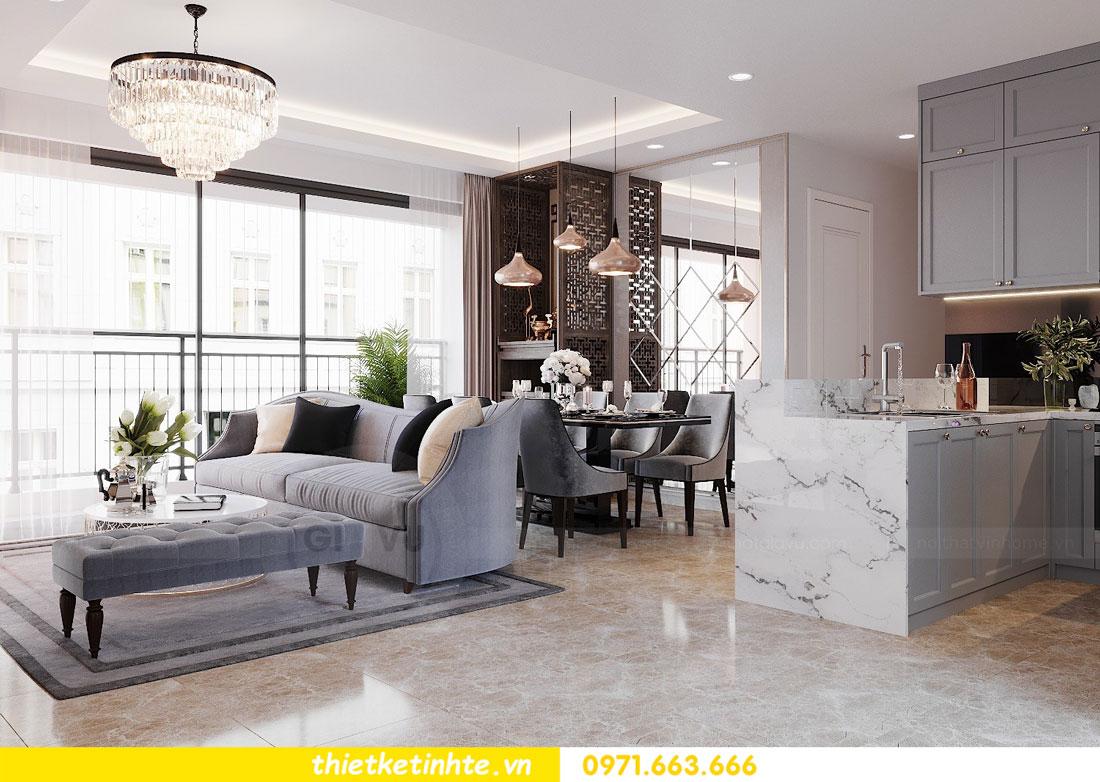 Mẫu thiết kế nội thất chung cư 3 phòng ngủ C3-06 DCapitale 02